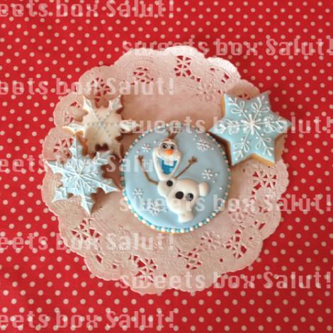 「アナと雪の女王」のアイシングクッキー3