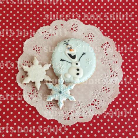 「アナと雪の女王」お誕生日用アイシングクッキー3