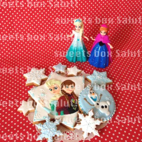 「アナと雪の女王」のアイシングクッキー4