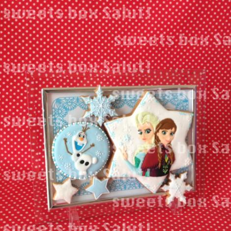 「アナと雪の女王」のアイシングクッキー5