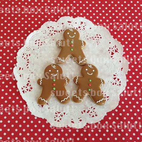 ジンジャーマンとクリスマスツリーのアイシングクッキーセット1