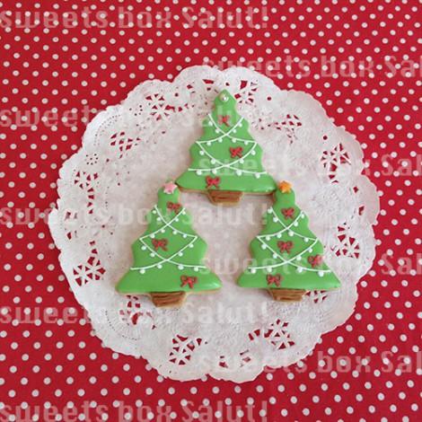 ジンジャーマンとクリスマスツリーのアイシングクッキーセット2
