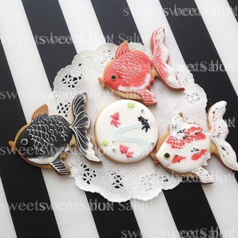 金魚のアイシングクッキー