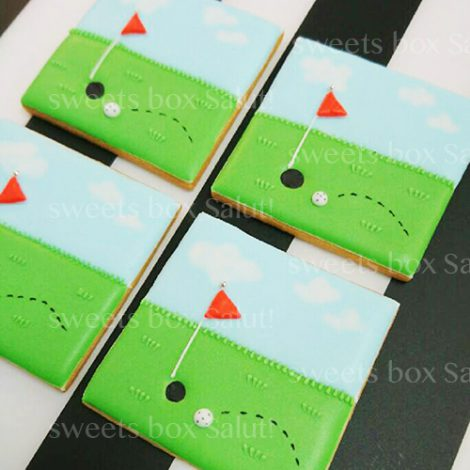 ゴルフのアイシングクッキー3