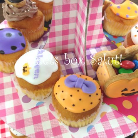 ハロウィンパーティーのアイシングクッキーとカップケーキ 2013Ver.6