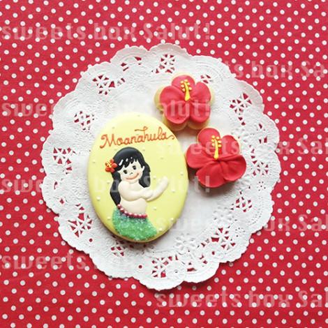 フラガールのアイシングクッキー
