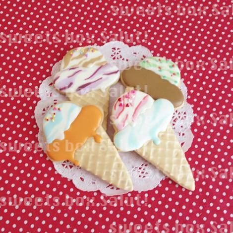 アイスクリームのアイシングクッキー1