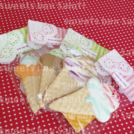 アイスクリームのアイシングクッキー3