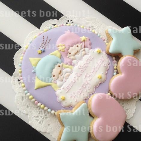 キキララのお誕生日用アイシングクッキー1