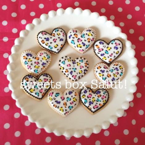 マルチカラーのレオパード(ヒョウ柄)アイシングクッキー2