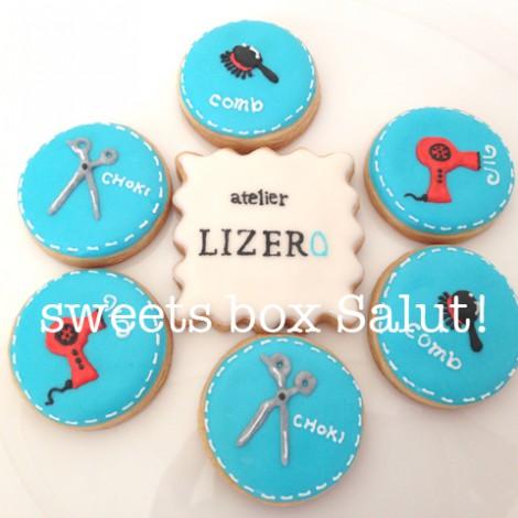 atelier LIZEROさま開店お祝いのアイシングクッキー1