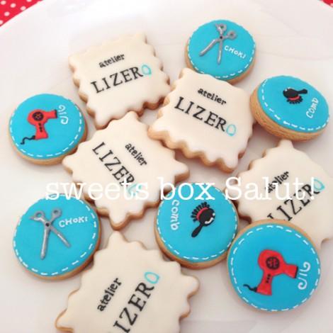atelier LIZEROさま開店お祝いのアイシングクッキー3