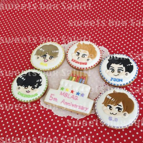 韓国アイドルグループMBLAQ5周年記念オリジナルアイシングクッキー