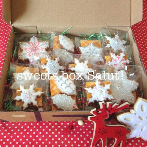 大人モノトーンのクリスマスアイシングクッキー