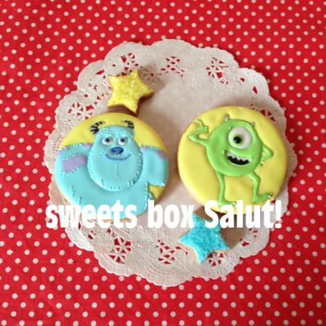 モンスターズ・インク サリー&マイクのお誕生日用アイシングクッキー