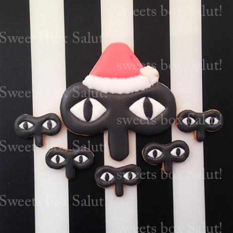 企業ロゴのクリスマスアイシングクッキー2