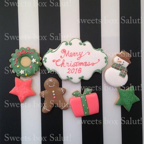 企業ロゴのクリスマスアイシングクッキー3