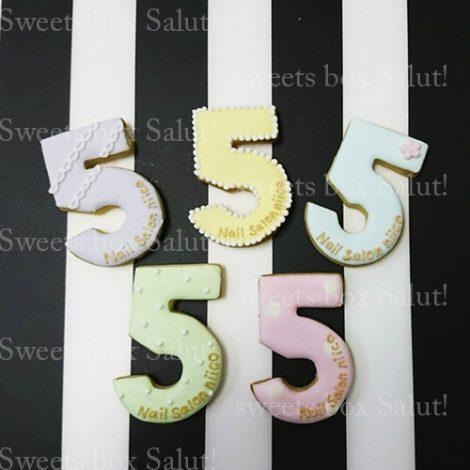 ネイルサロン5周年記念のアイシングクッキー1