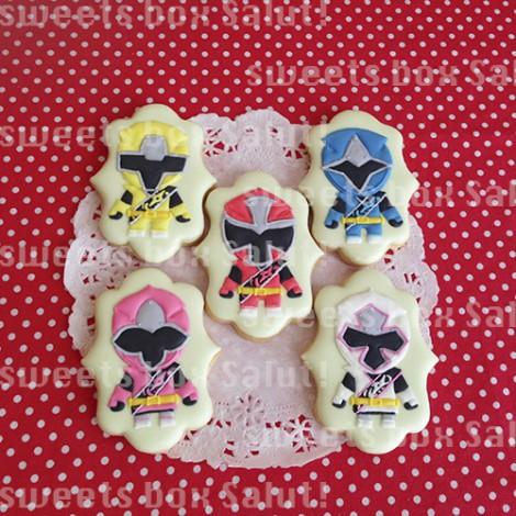 ニンニンジャー6人のアイシングクッキー1