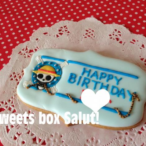 「ワンピース」のお誕生祝いアイシングクッキー1