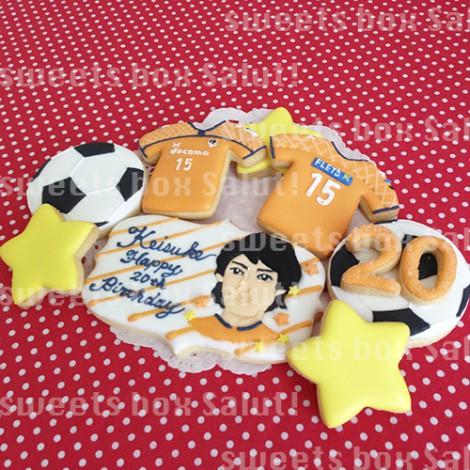 サッカーJ2 大宮アルディージャの大山選手のアイシングクッキー