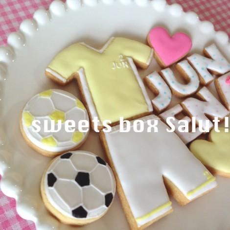 サッカーユニフォームのアイシングクッキー2