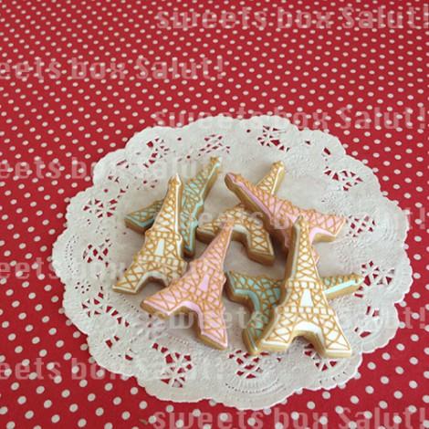 エッフェル塔のアイシングクッキー