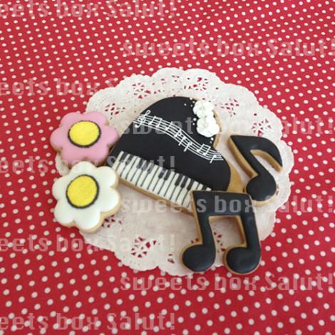 ピアノのアイシングクッキー1