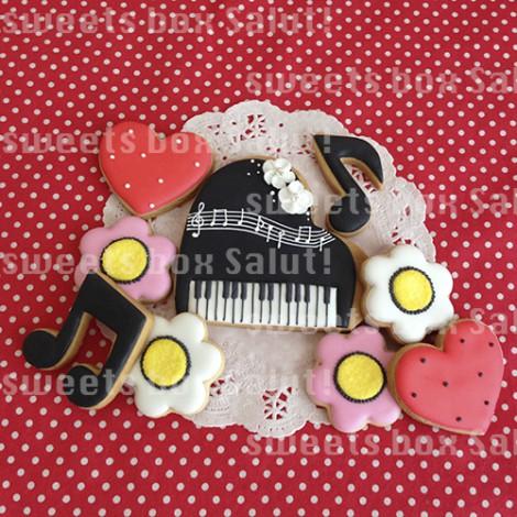 ピアノのアイシングクッキー2