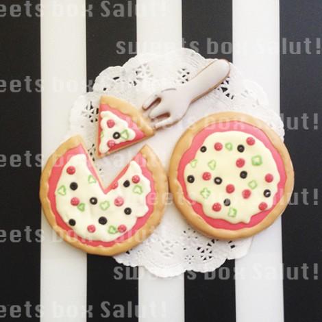 ピザのアイシングクッキー1