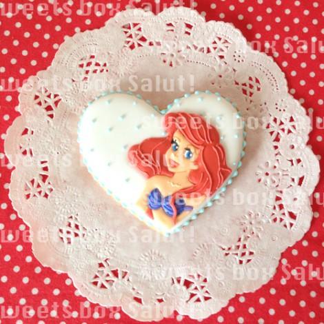 ラプンツェル、オーロラ、アリエルのアイシングクッキー