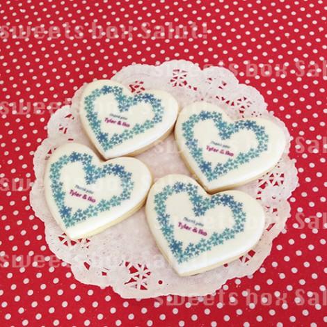 ハート型プリントアイシングクッキー