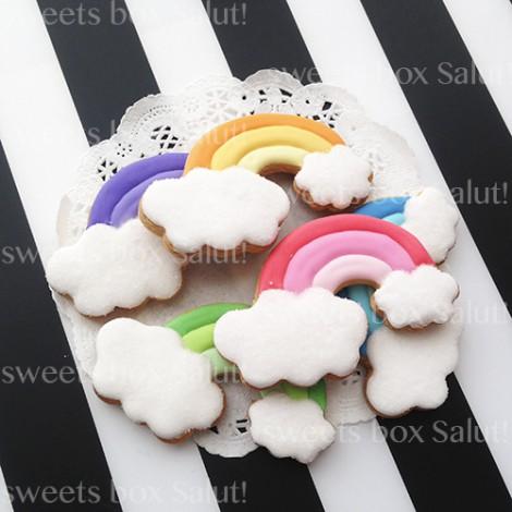虹のアイシングクッキー1