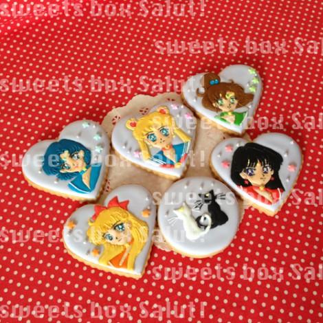 美少女戦士セーラームーンのアイシングクッキー
