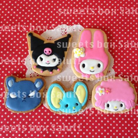 キティちゃん、マイメロちゃん、サンリオキャラのアイシングクッキー1