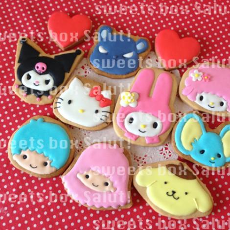 キティちゃん、マイメロちゃん、サンリオキャラのアイシングクッキー4