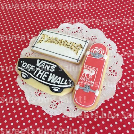 スケートボードのアイシングクッキー