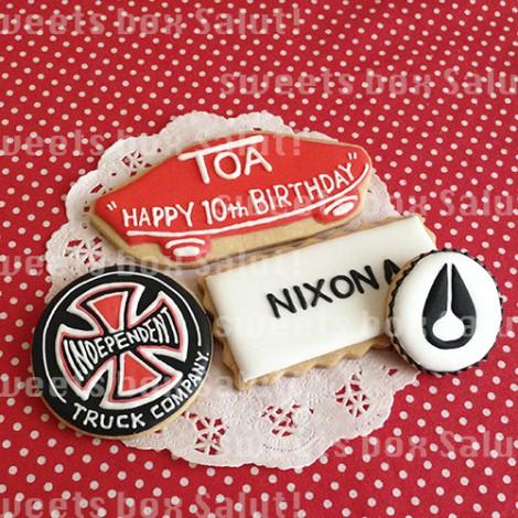 スケボーブランドのお誕生日アイシングクッキー