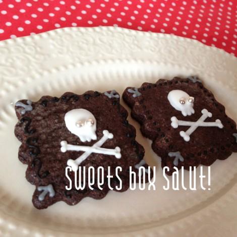 簡単スカルのアイシングクッキー1