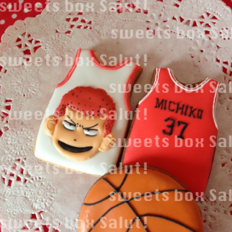 スラムダンクモチーフのお誕生日用アイシングクッキー