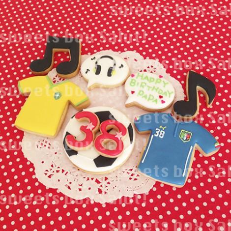 サッカー好きパパへのお誕生日用アイシングカップケーキ2