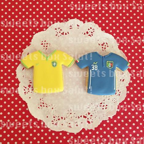 サッカー好きパパへのお誕生日用アイシングカップケーキ