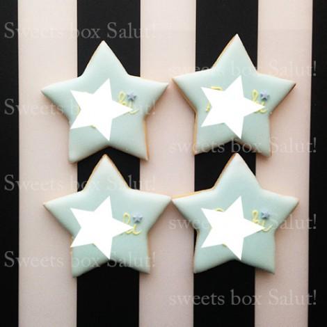 星のアイシングクッキー