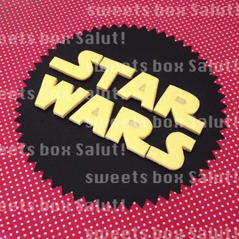 「STAR WARS」ロゴのアイシングクッキー1