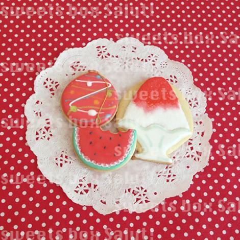 夏を楽しむアイシングクッキー