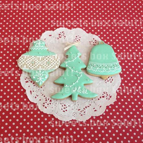 ティファニーなクリスマスアイシングクッキー4