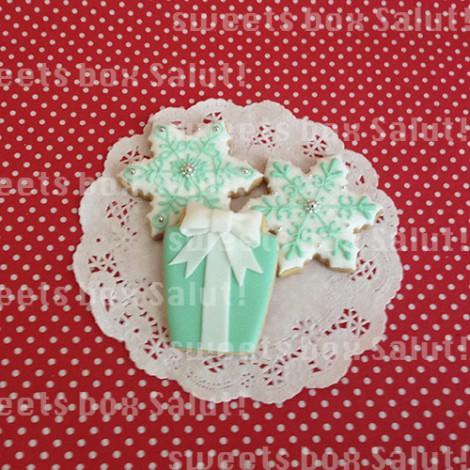 ティファニーなクリスマスアイシングクッキー5