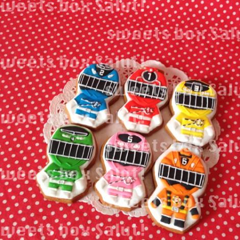 「烈車戦隊トッキュウジャー」1号〜6号のお誕生日用アイシングクッキー