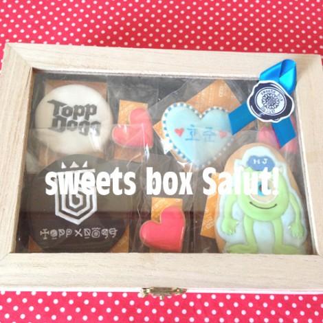 「ToppDogg」(K-popグループ)とモンスターズ・ユニバーシティのマイクのアイシングクッキー7