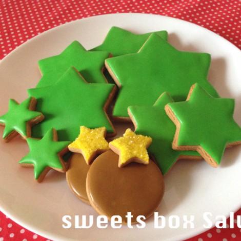 クリスマスツリーの3Dアイシングクッキー(セミ手作りセット)2